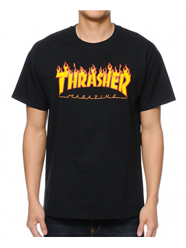Thrasher - Flame Logo Tee in Black