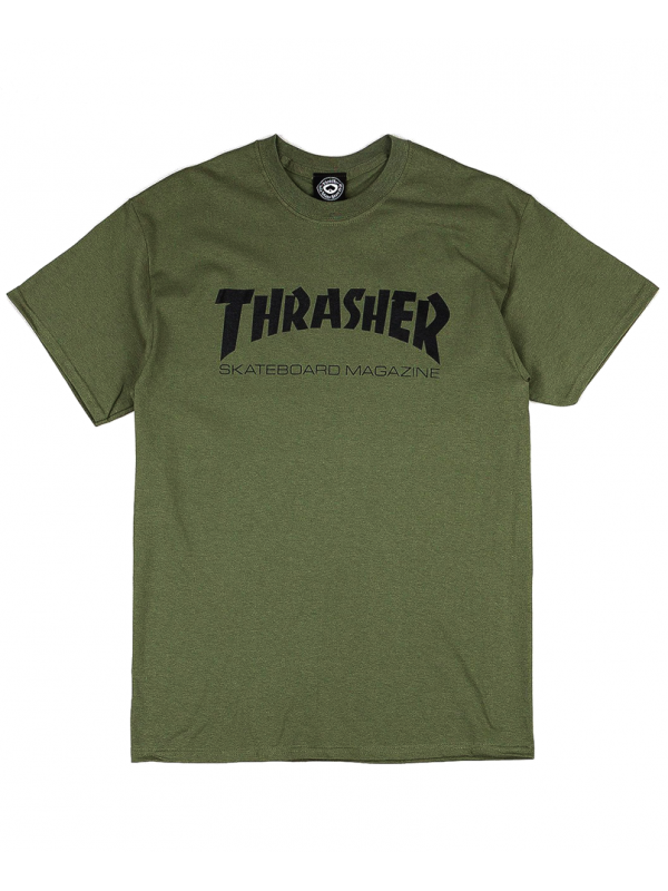 Thrasher - Thrasher Magazine Logo Tee in Army Green