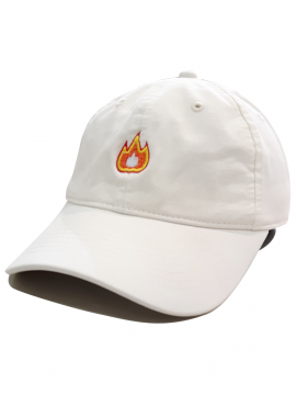 RXL Paris - Fire Emoji Dad Hat Blanc Cassé