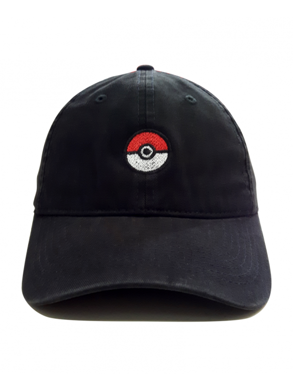 Pokeball Dad Hat in Black