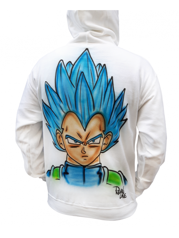 RXL Paris - Vegeta Airbrush Custom Hoodie in White