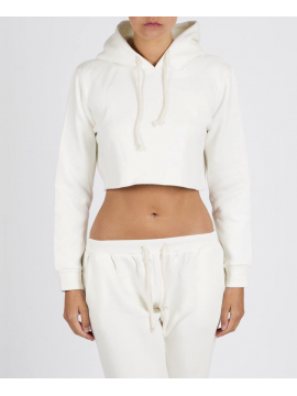 RXL - Crop Top Hooded White