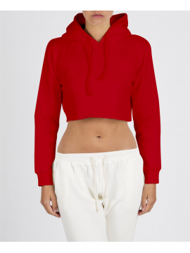 RXL - Crop Top Sweat Court Rouge
