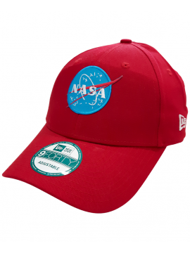 New Era Casquette 9Forty Patch Broder NASA Rouge