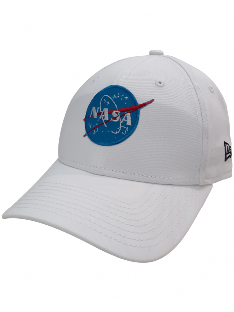 New Era 9Forty Patch Broder NASA Dad Hat Blanc