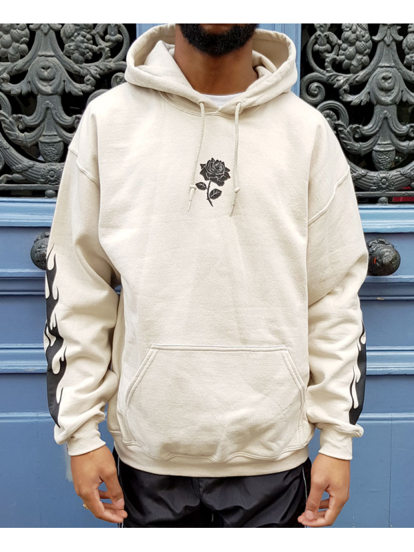 RXL Paris Rose Of The Flames Hoodie Sand