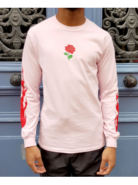 RXL Paris Rose Of The Flames T-Shirt Long Sleeve Pink