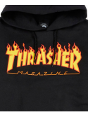 Thrasher - Sweat Capuche Flame Logo Noir