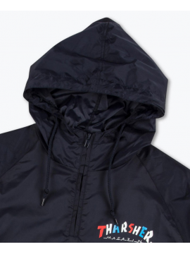 Thrasher Knock Off Pullover Anorak Jacket Navy