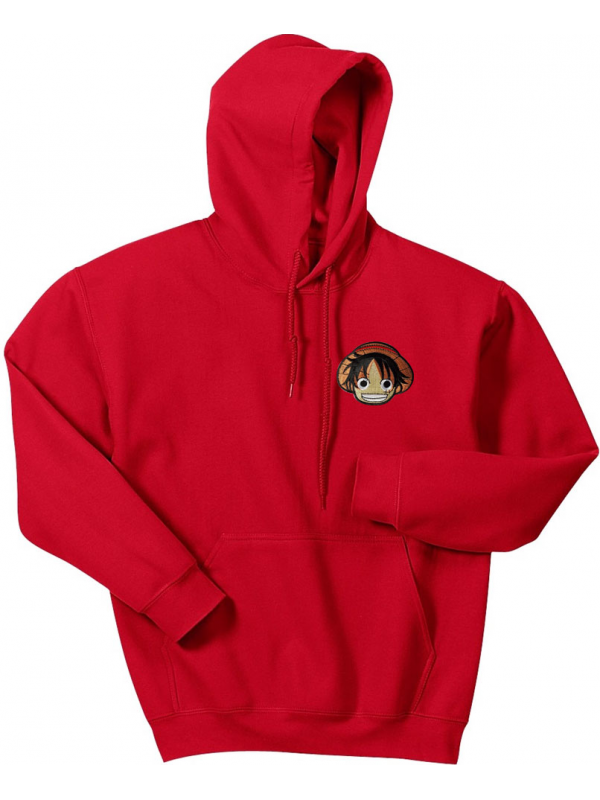 RXL Paris Luffy Patch Brodé Sweat À Capuche Rouge