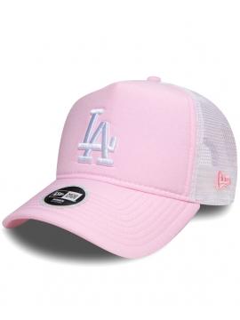 New Era - Womens Los Angeles Dodgers Oxford Trucker Pink