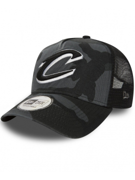 New Era - Casquette Adjustable Cleveland Cavaliers Trucker Midnight Camouflage