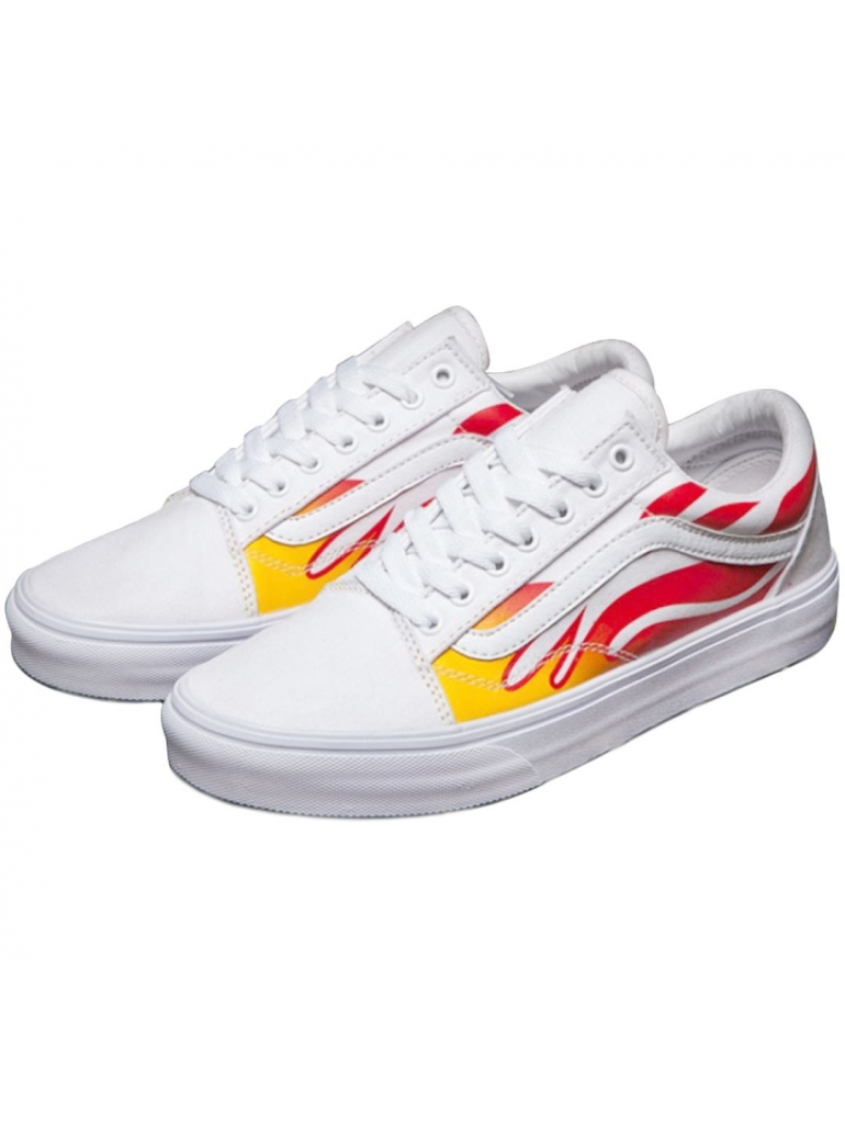 vans flame white - 50% remise - www