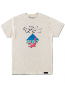 Pink Dolphin Waves Tee Off White