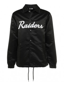 New Era NFL Oakland Raiders Satin Coaches Jacket Black