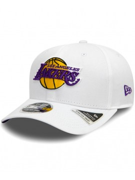 New Era Los Angeles Lakers Stretch Snap 9Fifty Cap White