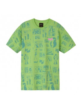 T-Shirt HUF Tijuana Memories Hot Lime Vert