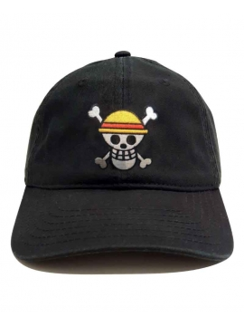 Casquette One Piece Patch Brodé Noir