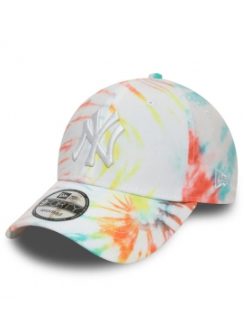 Casquette NY Tie Dye New Era 9Forty New York Blanc