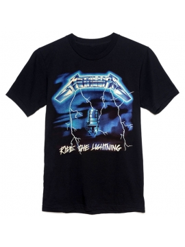 T-Shirt Metallica Ride The Lightning Noir - T-Shirt Vintage