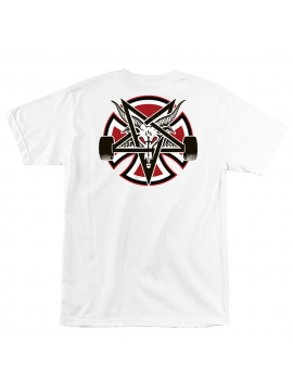 T-Shirt Thrasher X Independent Pentagram Cross Blanc