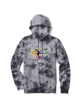 Primitive Skate x Sailor Moon Ginza Scouts Washed Hoodie Black