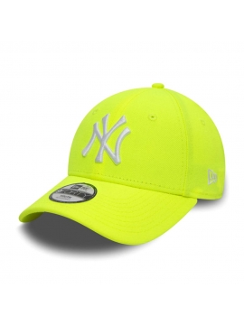 New Era 9Forty Kids NY Yankees Logo Neon Yellow Cap