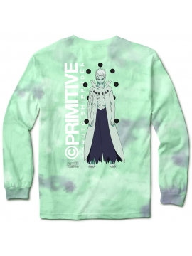 T-Shirt Manches Longues Primitive Skate x Naruto Obito Tie Dye Turquoise