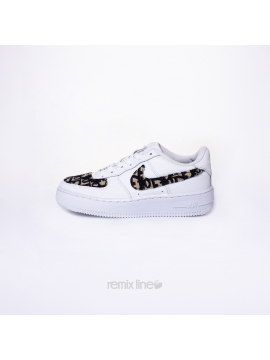 Remix Line Custom - Nike Air Force 1 Enfant Dior Custom Monogramme Beige