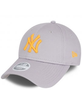 Casquette Femme New Era New York Yankees Essential 9Forty Gris - Orange Fluo