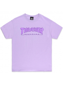 T-Shirt Thrasher Outlined Orchid
